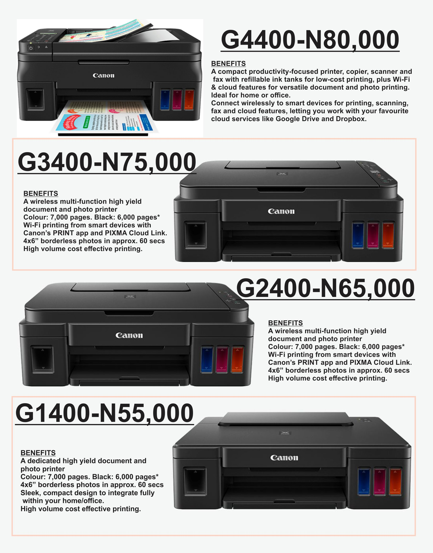 Buy Canon G Series CD Jacket / Photo / Document Printer with