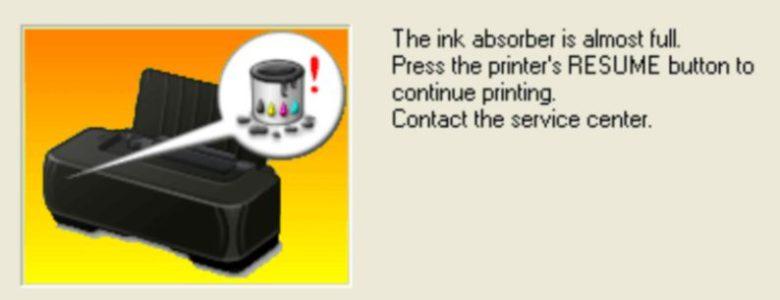 ink absorber warning